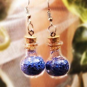 🧚♀️💫🦋 NEW Blue Fairy Dust Earrings